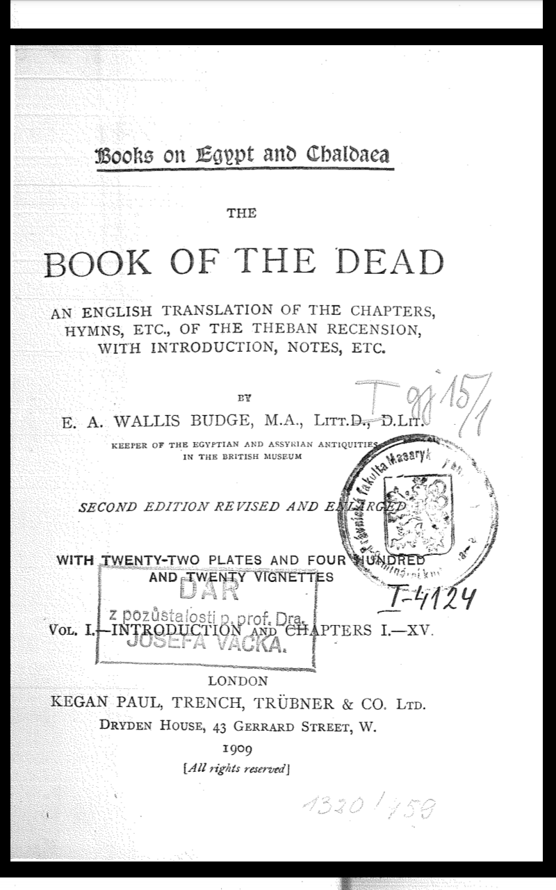 Book of the dead-translated into english